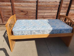 Twin bed with mattress for Sale in Huntington Beach, CA