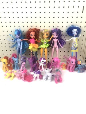 Lot of my little pony's and 5 dolls for Sale in Santa Clara, CA