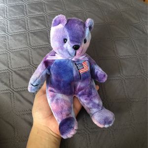 Beanie Babies International Bears American Flag Purple Blue Bear for Sale in Los Angeles, CA