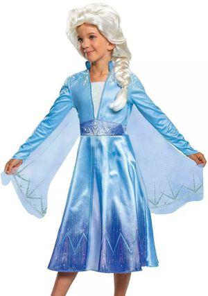 NEW DISNEY FROZEN II ELSA COSTUME with WIG INCLUDED 4-6x for Sale in Garden Grove, CA