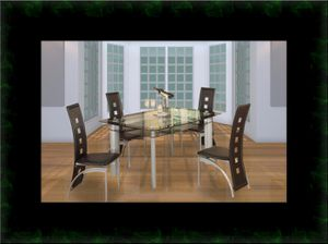 Glass dining table with 4 chairs for Sale in Ashburn, VA