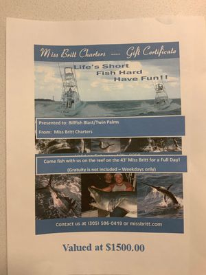 Offshore Fishing Charter out of Miami, Florida for Sale in West Palm Beach, FL