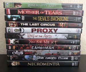 Horror Dvd Lot for Sale in Murrieta, CA