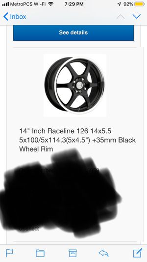 2 raceline 14 inch rims New with new tires to go with for Sale in Boston, MA