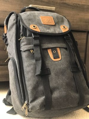 "DSLR CAMERA BACKPACK (21 in. Canvas Backpack with 15.6"" Laptop Pocket for Sale in Louisburg, NC"
