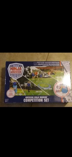 American Ninja warrior competition set good for park or parties for Sale in San Bernardino, CA