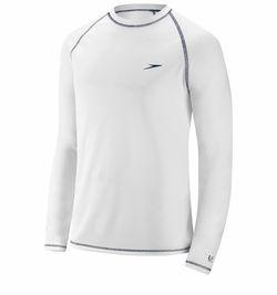 Speedo Mens White Size L Long Sleeve Logo Rashguard Swimwear Shirt for Sale in French Creek,  WV