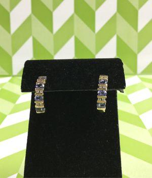 14k Gold Tanzanite and Diamond Earrings for Sale in Oceanside, CA