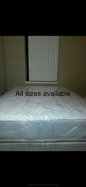 New queen size mattress and box spring available. Delivery is available for Sale in Sacramento, CA