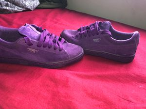 Purple suede pumas for Sale in Columbus, OH