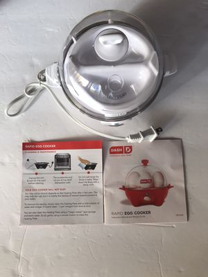 Dash Rapid Egg Cooker: 6 Egg Capacity Electric Egg Cooker for Sale in Los Angeles, CA