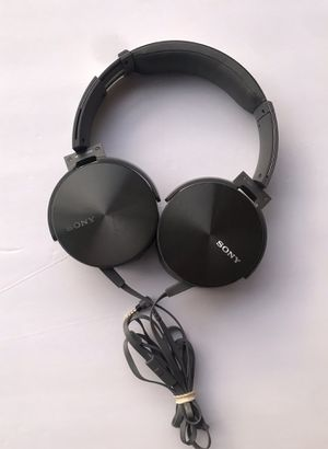 Sony MDR-XB950 Extra Bass Stereo MP3 Smartphone On-Ear Wired Gray Headphones for Sale in Pittsburg, CA