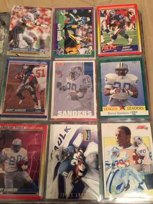 Barry Sanders football cards. $5.00 for sheet of 9 cards. for Sale in ROCHESTER, NY