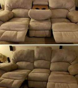 Microfiber Double Reclining Sofa for Sale in Clearwater,  FL