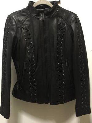 MICHAEL KORS brand new black leather jacket women medium for Sale in Brooklyn, NY