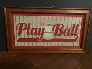 Play ball picture frame for Sale in Tampa, FL