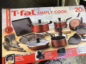 T-fal cookware new in box 20 pcs serious contact only no low offers for Sale in Garner, NC