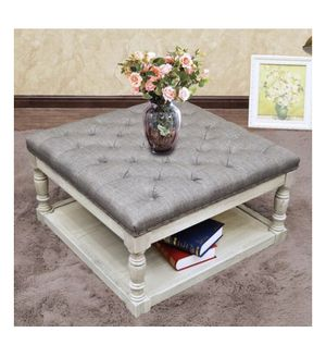 Cairona Fabric 30-inch Tufted Shelved Ottoman A9-9188 for Sale in St. Louis, MO