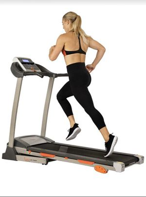SUNNY HEALTH & FITNESS TREADMILL MOTORIZED RUNNING MACHINE WITH LCD DISPLAY, TABLET HOLDER, SHOCK ABSORPTION, 220 LB MAX WEIGHT AND FOLDING RUNNING B for Sale in Corona, CA