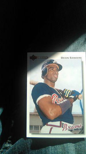 Deion Sanders baseball card for Sale in San Diego, CA