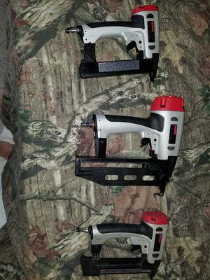 Craftsman finish nail gun, brad nailer and crown stapler for Sale in Kemah, TX