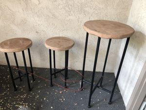 Outdoor Console Table and Chairs for Sale in Sandy, UT