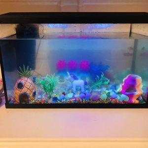 Fairly New LED Lighting Fish Aquarium Set for Sale in Houston, TX