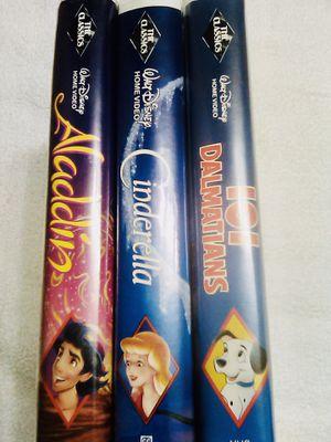 3 Ultra Rare Black Diamond Walt Disney VHS($6000) for Sale in Raleigh, NC