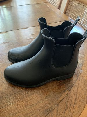 Black rain boots size 8 for Sale in Los Angeles, CA