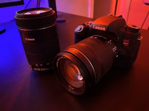Canon EOS Rebel T6s, Canon EFS 18-135mm f3.5-5.6 IS, Canon EFS 55-250mm f4-5.6 IS for Sale in Orlando, FL