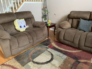 Ashely Recliner sofa and Recliner love seat (1 year old) for Sale in Evesham Township, NJ