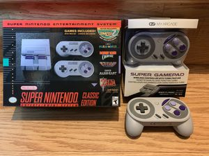 Super Nintendo Classic Edition w/ extras for Sale in Montesano, WA