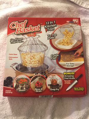Chef Basket Deluxe 12 in 1 Kitchen Steam Fry Tool New for Sale in Honolulu, HI
