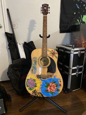 Acoustic guitar with stand and marvel picks for Sale in Round Rock, TX