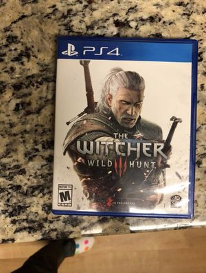 Two PS4 Games: The Wild Witcher Wild Hunt and South Park The Fractured Butt Hole for Sale in Manassas, VA