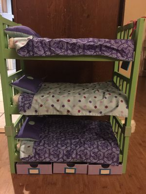American Girl Doll triple bunk bed for Sale in Oceanside, CA