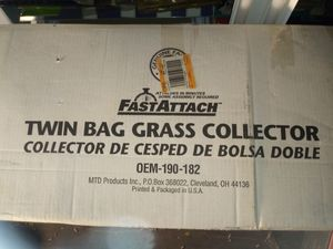 MTD twin bag grass collector for 46 in riding lawn mower catcher for Sale in Pembroke Pines, FL