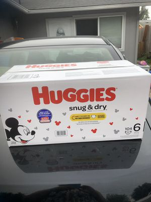 HUGGIES SNUGGLERS DIAPERS SIZE 6 for Sale in Tacoma, WA