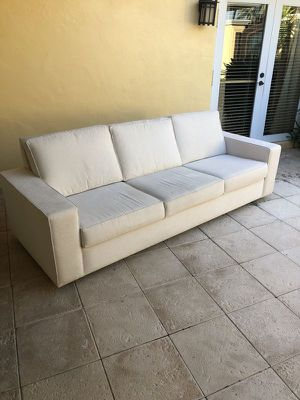 Cream color fabric sofa for Sale in Fort Lauderdale, FL