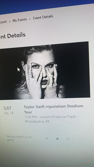 2 Taylor Swift tickets Lincoln Financial Field, sat July 14 for Sale in Fort Meade, MD