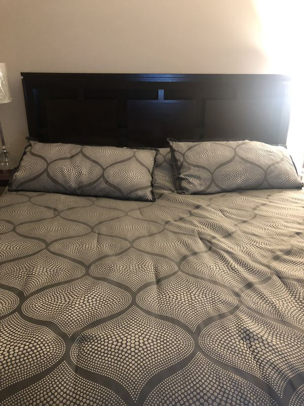 King bed headboard and frame