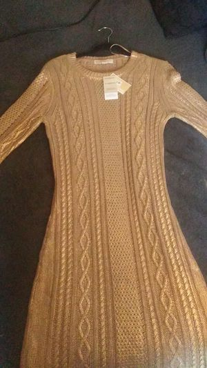 GOLD MICHEAL KORS DRESS(L)large for Sale in West Palm Beach, FL
