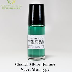 Chanel Allure Homme Sport's Men Type, 1 Ounce 100% Pure Perfume oil | body oil for Sale in Queens, NY
