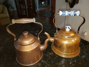 Copper Tea kettle Pots (2) your choice for Sale in Valrico, FL