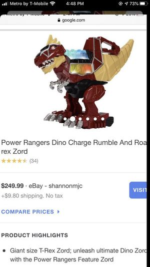 Power ranger dibo charge Rumble and Roa Rex zord for Sale in Cerritos, CA