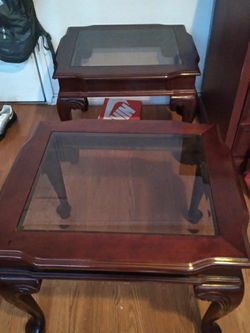 2 Glass ,wood Tables for Sale in San Angelo,  TX