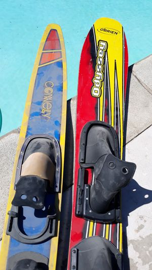 2 singles water skis u.s.a for Sale in San Bernardino, CA