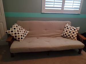 Havertys mission style oak futon bed and mattress for Sale in Brandon, FL