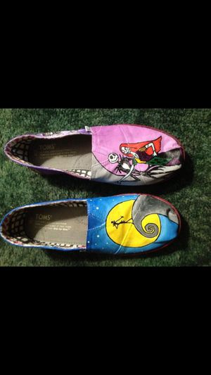 The Nightmare Before Christmas Hand Painted Toms for Sale in Troutdale, OR