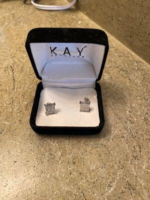 Square diamond earrings 1/2 k for Sale in Fresno, CA